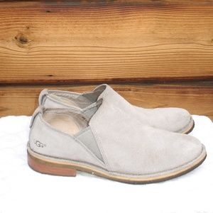 UGG Light Gray Suede Loafers